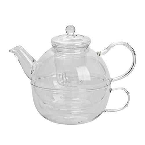 Argon Tableware Glas Einzel-Teetopf, Tasse und Sieb Set - 550 ml (Teekanne)