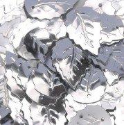 Pailletten Blatt geprägt 12 x 18 mm ca. 33 Stück Silber (Geprägte Blätter)