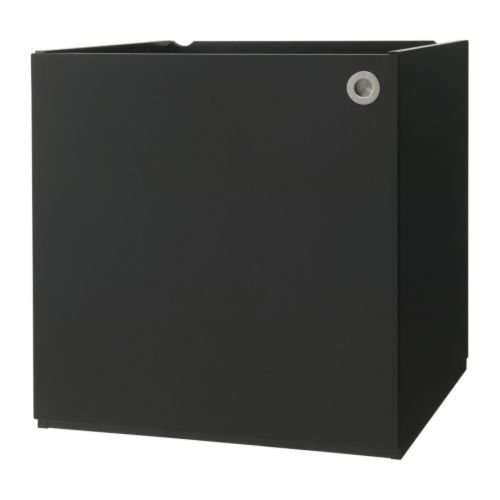 IKEA UDDEN Schrank mit Tür in schwarz