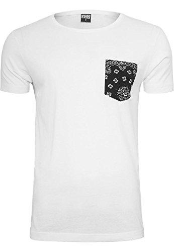 Preisvergleich Produktbild Urban Classics Contrast Pocket Tee T-Shirt Shirt, Farbe:wht/blackbandana;Größen:L