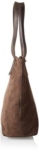 Timberland Damen Tb0m5736 Schultertasche, 13 x 34 x 34 cm Braun (Mulch)