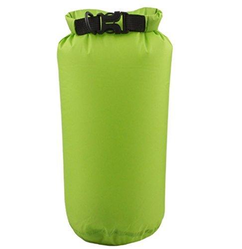 Hosaire 1X Borsa impermeabile Dry Bag 8L Custodia Impermeabile/ Sacca Impermeabile Marsupio/ Sacchetto Impermeabile / Rafting Bag / Borsa da spiaggia /Marsupio Borsa Sacchetto Impermeabile Per Campegg Verde