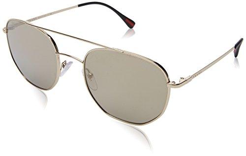 Prada Sport Herren 0PS56SS ZVN1C0 53 Sonnenbrille, Pale Light Brown Gold