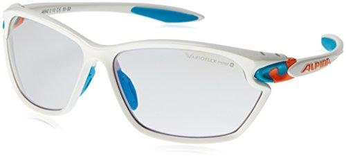 Alpina Sonnenbrille Pro Line TWIST FOUR 2.0 VLM+ Sportbrille, White-Cyan-Orange, One Size