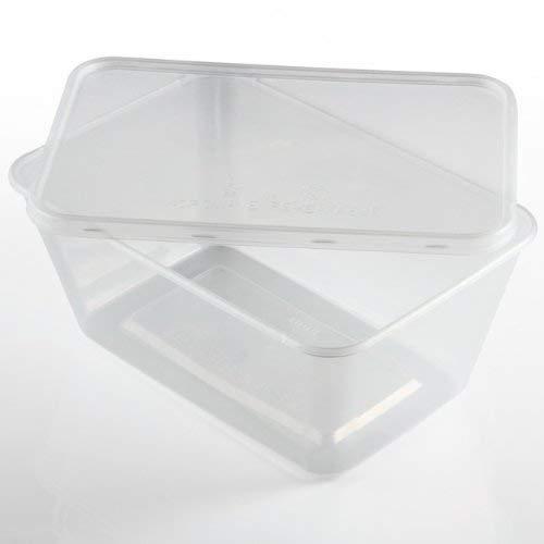 Wecansourceitltd - 250 X Rechteckig 1000ml Mikrowelle Transparentes Plastik Lebensmittel Behälter Einfrieren Imbiss Heiß Kalt Foods (Lebensmittel Mikrowellen-behälter)