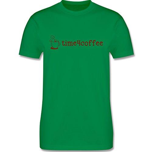 Küche - Time4Coffee - Herren Premium T-Shirt Grün
