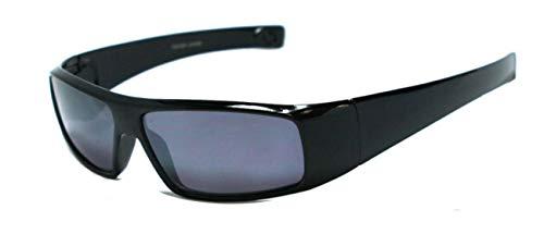 +1.50 Schwarz Getönte Lesebrille Sonnenbrille Designer Stil Rundum-Design Männer, Frauen, Unisex 100% UV-Schutz, +1.5 Dioptrien