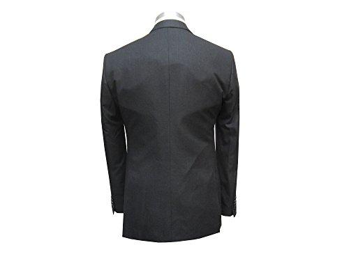 MUGA Homme Costume 2 fente, Cintrée 120S, Noir antracite