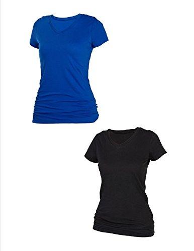 boxercraft Damen Nachthemd, Einfarbig Einheitsgröße Schwarz