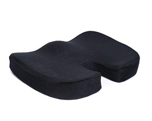 Tofern Steißbein Orthopädie Memory-Schaum Sitzkissen Autokissen Für Rückenschmerzen Steißbein Und Ischias Schmerzen (Schwarz)