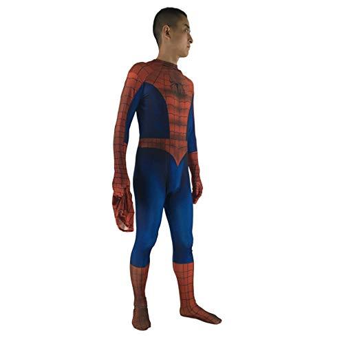 n Kostüm Cosplay Anime Kostüm Halloween Spiderman Kostüm Kleidung (Rot + Blau) XL ()