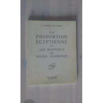 La Proportion égyptienne et les rapports de la divine harmonie
