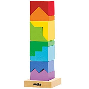 Woodyland 9 x 26 cm Didácticos Juguetes Stacking Torre (9 Piezas)