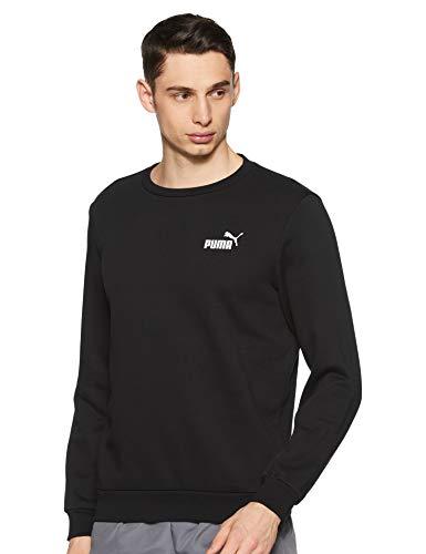 PUMA Herren ESS Logo Crew Sweat FL Pullover, Black, XL -