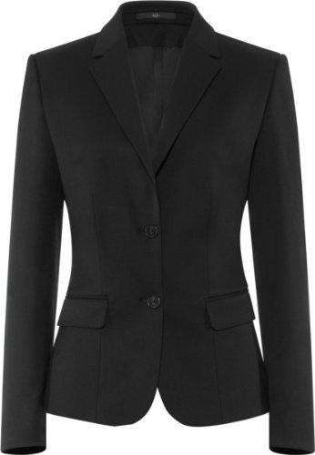 Stretch-zwei-knopf-anzug (GREIFF Damen-Blazer Anzug-Jacke BASIC comfort fit - Style 1432 - schwarz - Größe: 44)