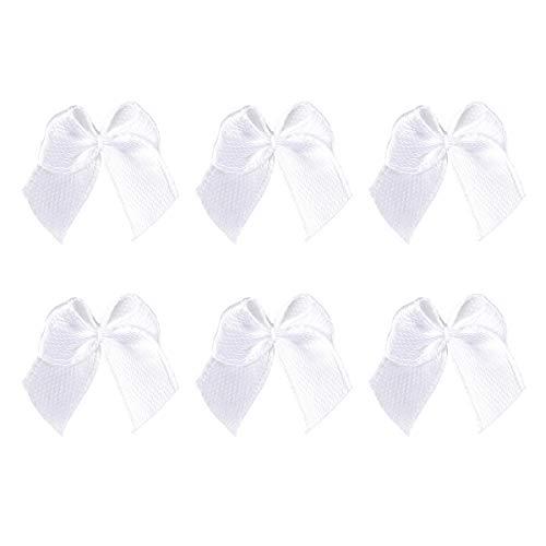 SUPVOX 100 stücke Kleine Satinband Bögen Grosgrain Hair Bows Verschönerung für DIY Handwerk (Weiß) -