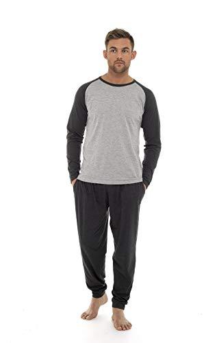 08ebfbc6fb Conjunto para dormir Hombre Invierno Varios Colores 100% Algodón Mangas  Largas Set Suave Cómodo Ropa