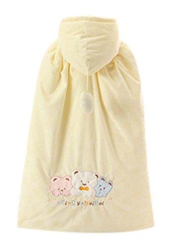 Baby-Mantel-Fall-Winter-Fonds starke warme Baumwolle Schal tragen Muster Gelb