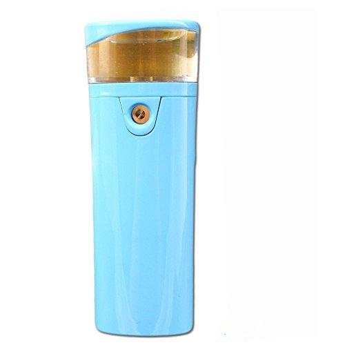 Multifunctional Power Bank 2600mAh mit Mini Luftbefeuchter Tragbarer Kühler Cool Mist Aroma Humidifier Externe Akku-Ladegerät für Office Home Reise Auto Shut-off Aufladen Handy Smartphone Tablets (Blau)