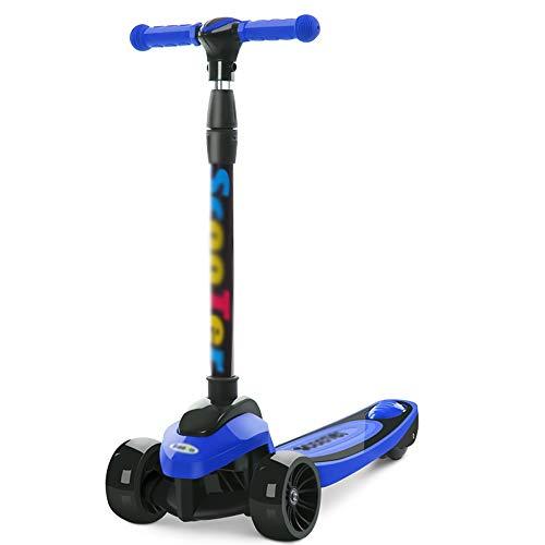 CHENGGUO 4 höhenverstellbare Roller, Kinder-Skateboards (Farbe : Blau)