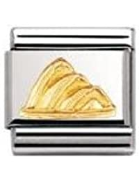 Nomination Composable Classic Relief Monument Opera House Stainless Steel and 18K Gold