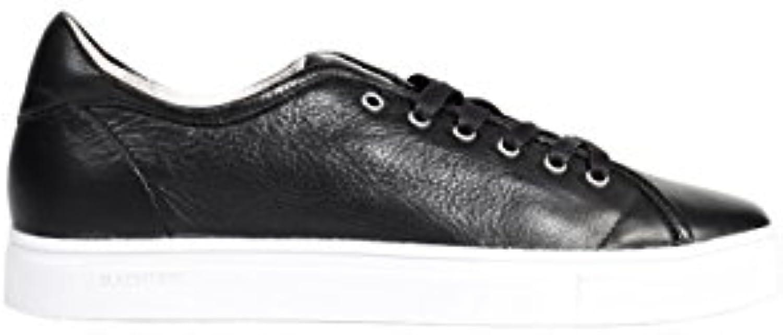 Blackstone Herren Ledersneaker in Schwarz  Billig und erschwinglich Im Verkauf