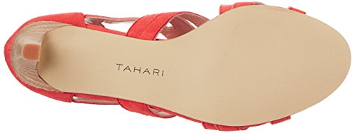 Tahari Luck Femmes Cuir Talons Blood Orange