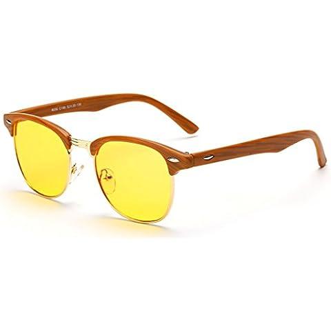 E-Bestar Occhiali da riposo per protezione degli occhi prevenzione da stanchezza Anti-ray luce blu del computer (Cammello)