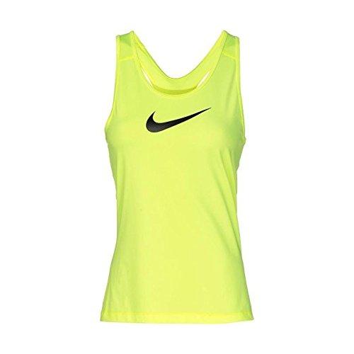 Nike Np Cl Tank Camiseta, Mujer, Lima / Negro (Volt / Black), M