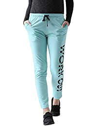Club York Women's Blue Casual Slim Fit Track Pant with Print