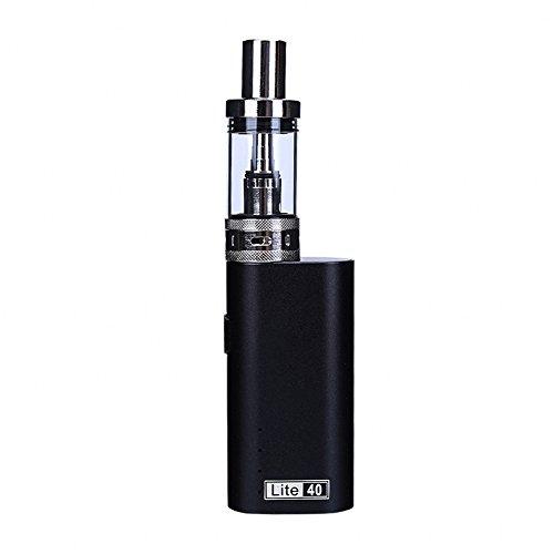 Yeleo Trosetry E Shisha Set Elektronische Zigarette USB Aufladbare 40W 3ml Box Mod 2200mAh 18650 Batterie Luftstrom Kontrolle Zig Rauchen Kein Nikotin (schwarz)