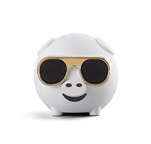 OMJNH Bluetooth-Lautsprecher, kreative Schwein Mini-Karaoke-Mini-Lautsprecher, mit K-Song, Sprachansage, Radio, Anruffunktion