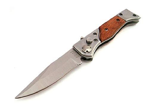 KOSxBO Klassisches Messer Klingenlänge 7,5 cm Taschenmesser Einhandmesser aus Holz und Metall - Outdoor - Survival -