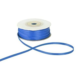 3mm x 50m Blue Double Sided Satin Ribbon
