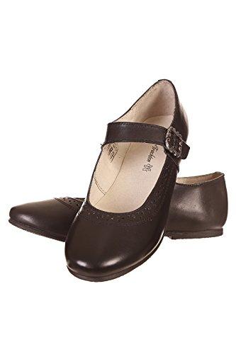 Isar Trachten Kinder Schuh 60311 Schwarz