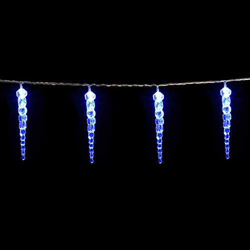 Guirlande lumineuse LED Bleu Intérieur et extérieur 80 stalactites Décoration ambiance Noël