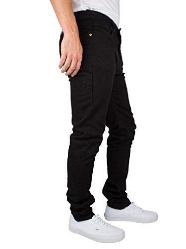 Criminal Damage Herren Skinny Jeans, Schwarz Schwarz