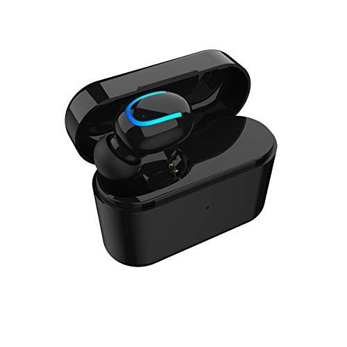 Auricolari wireless Bluetooth 5.0 + EDR auricolari sportivi a prova di sudore con custodia di ricarica portatile mini auricolari in-ear...