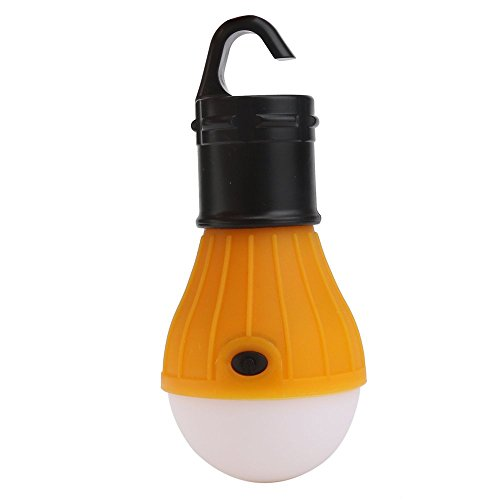 HCFKJ Outdoor Portable Hängenden LED Camping Zelt Glühbirne Angeln Laterne Lampe (ORANGE) (Angeln-leuchten Für Boote)