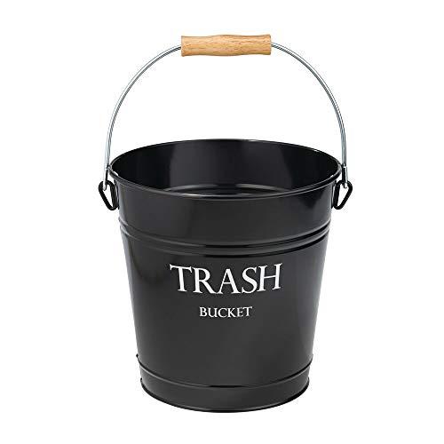 mDesign Abfallsammler aus Metall - schicker Papierkorb für Bad, Büro und Schlafzimmer - 12,5 Liter großer Mülleimer für Papier etc. - schwarz