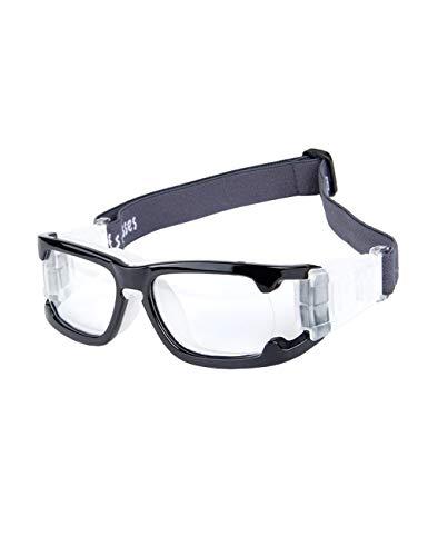 fussball sportbrille CUKKE Unisex Sportbrillen für Basketball Fußball Volleyball Hockey Outdoor Sports Brille Schutzbrille Brillen mit (Schwarz)