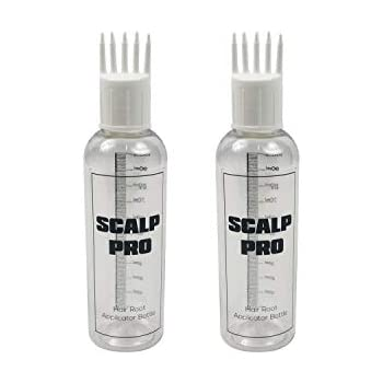 Scalp Pro Hair Root Applicator Bottle with Comb Cap for Applying Hair Oil, Shampoo and Medicines - Pack of 02