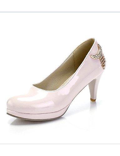 GS~LY Da donna-Tacchi-Formale / Casual-Tacchi-Basso-PU (Poliuretano)-Nero / Rosa / Beige pink-us5.5 / eu36 / uk3.5 / cn35