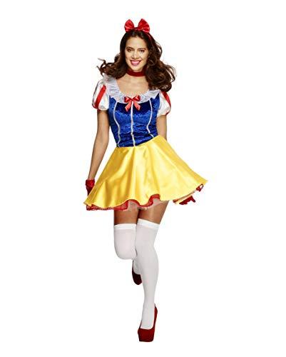 Horror-Shop Sexy Schnewittchen Minikleid mit Petticoat - Märchenkostüm ()