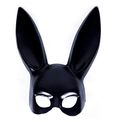 Black Temptation Bunny Ears Halbmaske für Makeup Dance / Halloween (schwarz)