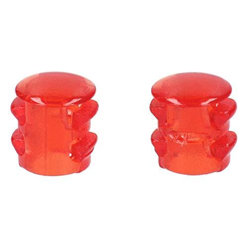 2 x Lampenabdeckung Lampenkappe Abdeckung Linse rot für Bedienblende Backofen Herd ORIGINAL Bosch Siemens 00416686 416686 (Ersatz-linsen Schalter)