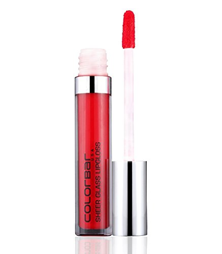 Colorbar Sheer Glass Lip gloss 3.3ml with Ayur Product In Combo (Red Glass)
