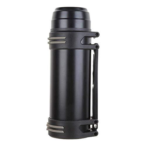 Thermosflasche, Thermobecher Reisebecher, Outdoor Bergsteigen Wärmflasche gerade Tasse mit Griff Edelstahl Isolierung 12-24 Stunden (Farbe : D, Größe : 2500ml) -