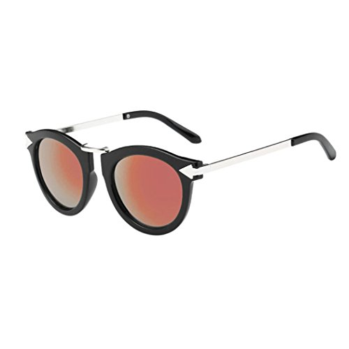 Toamen Fashion Metal Frame Unisex Women Men Fashion Glasses Aviator Mirror Lens Sunglasses