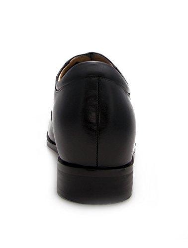 ZERIMAR Scarpe da uomo con aumentano interni ¡ATTENZIONE OFFERTA SPECIALE 7,5 ANNIVERSARIO! Aumenta + Pelle cm Genuina Scarpe di pelle 100% Naturale Nero